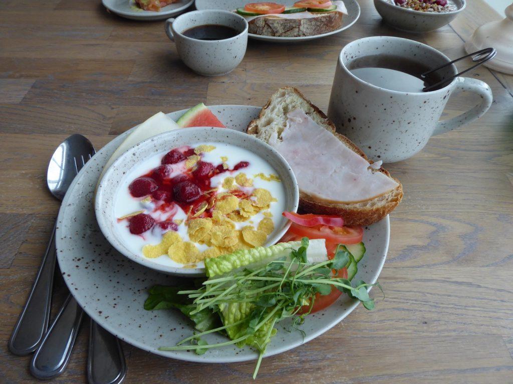 Riktigt god frukost.