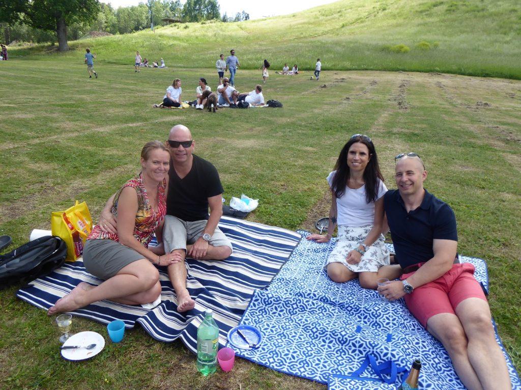 Picknick i det gröna.
