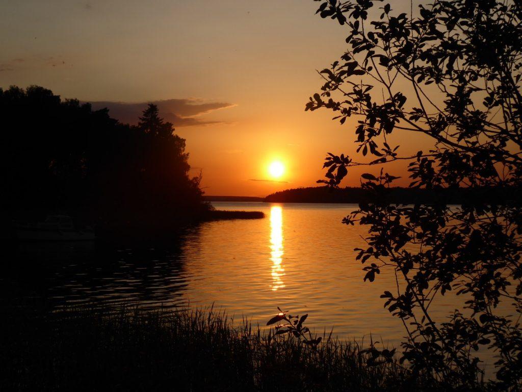 En solnedgång ger det totala lugnet och harmonin!