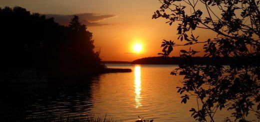 Magisk solnedgång.