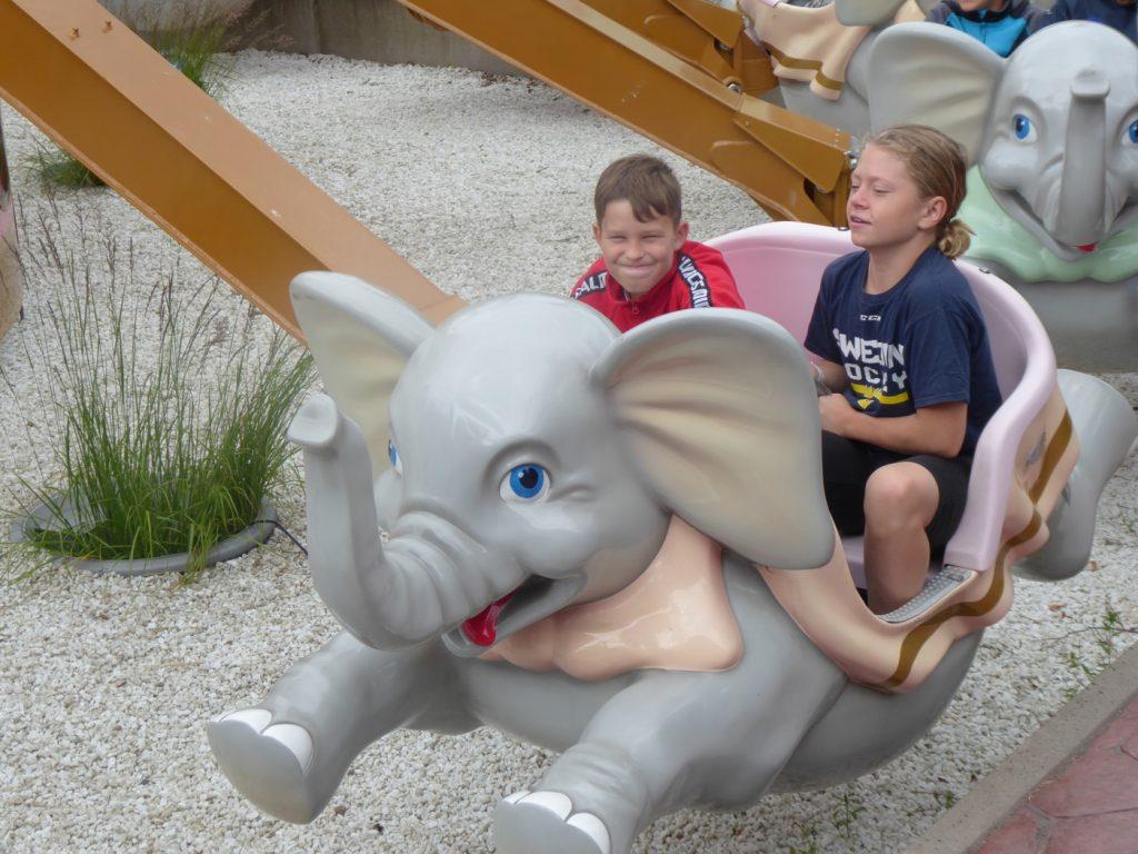 Visst kan man åka elefanterna fast man är 12 år?!