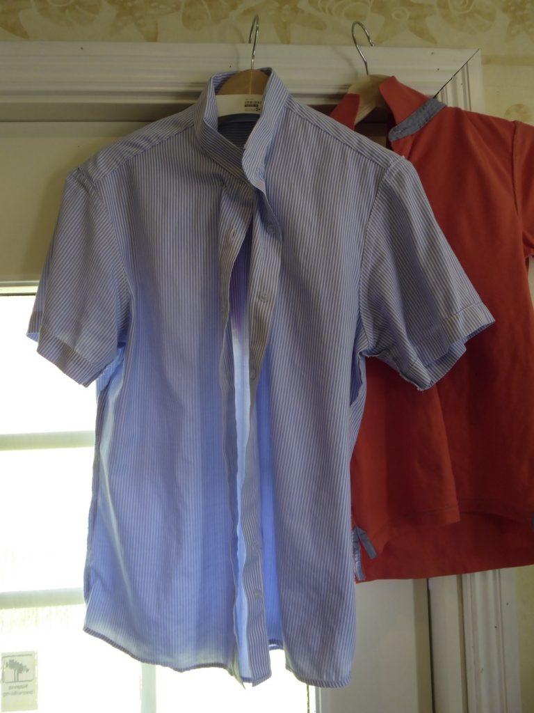 Skjorta före...