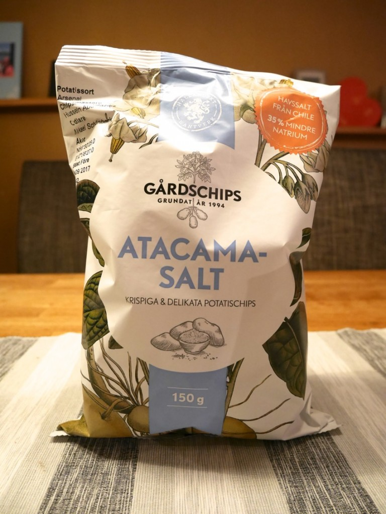 Lättsaltade chips med Atacamasalt