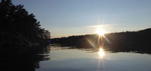 Vacker solnedgång att njuta av.
