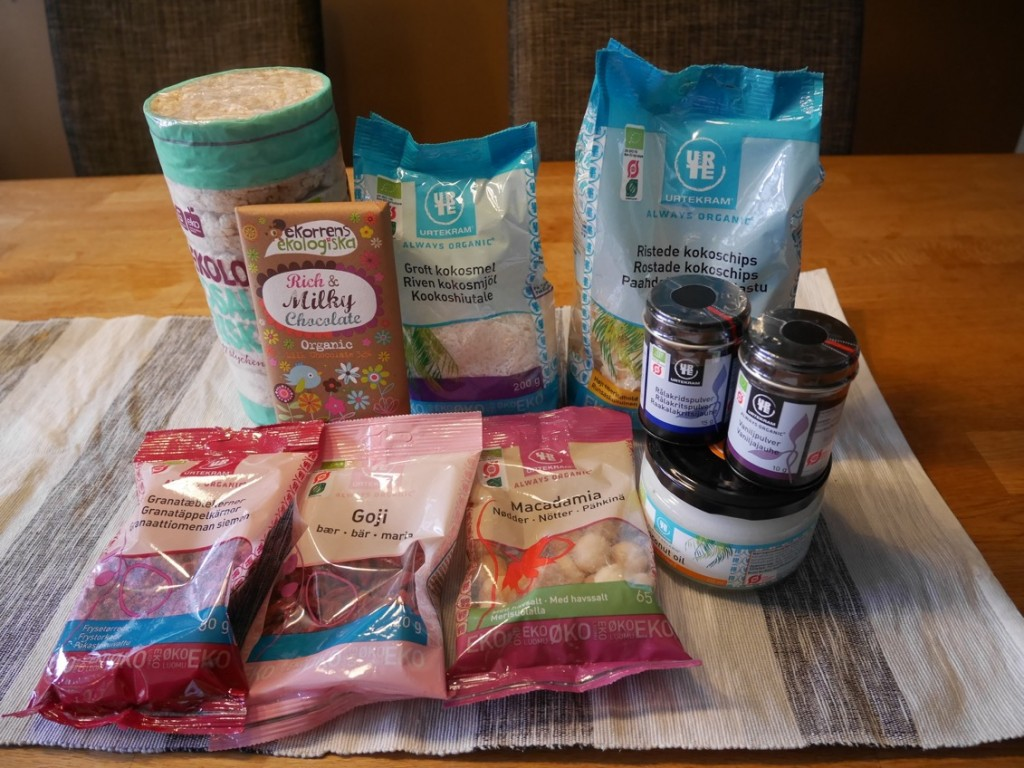 Ekologiska produkter från Urtekram.
