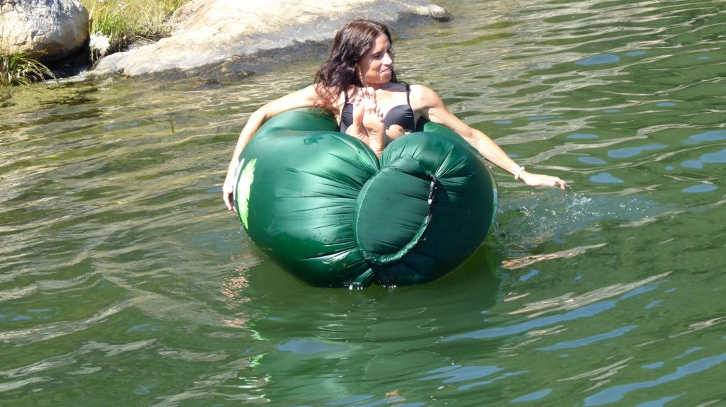 Chillbean funkar även i vattnet.