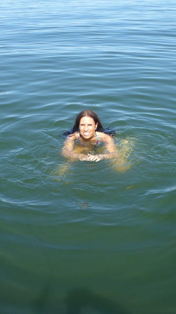 Riktigt varmt och skönt i vattnet.