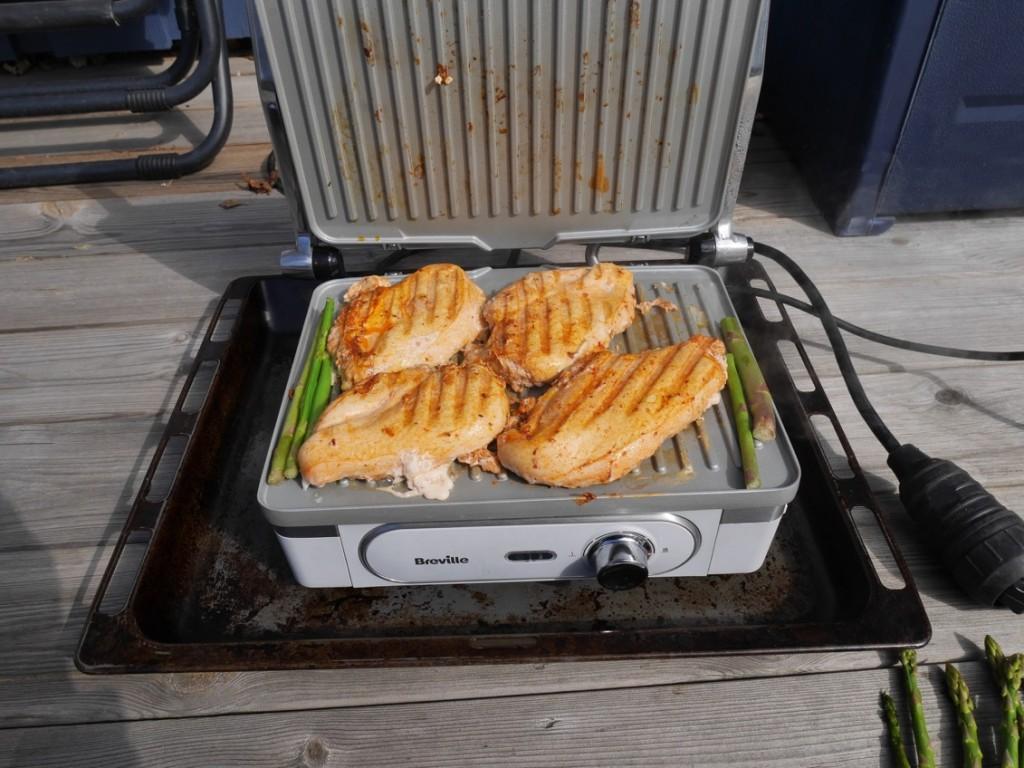 Kycklingen är klar.