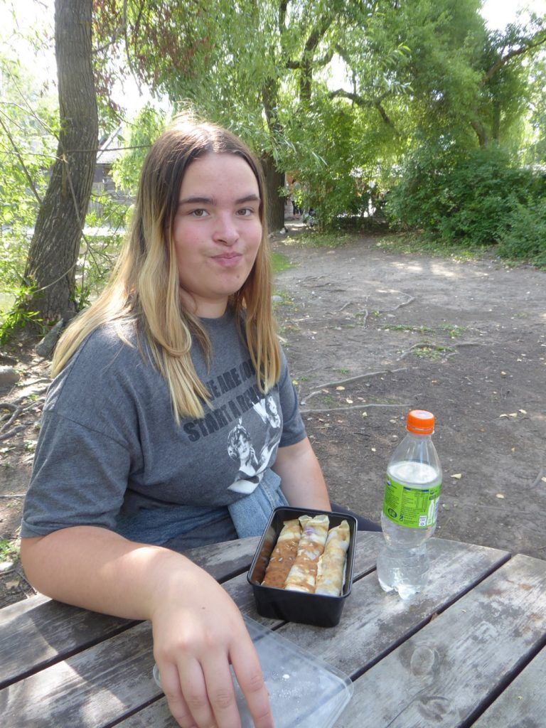 Gott med lunch i solen!