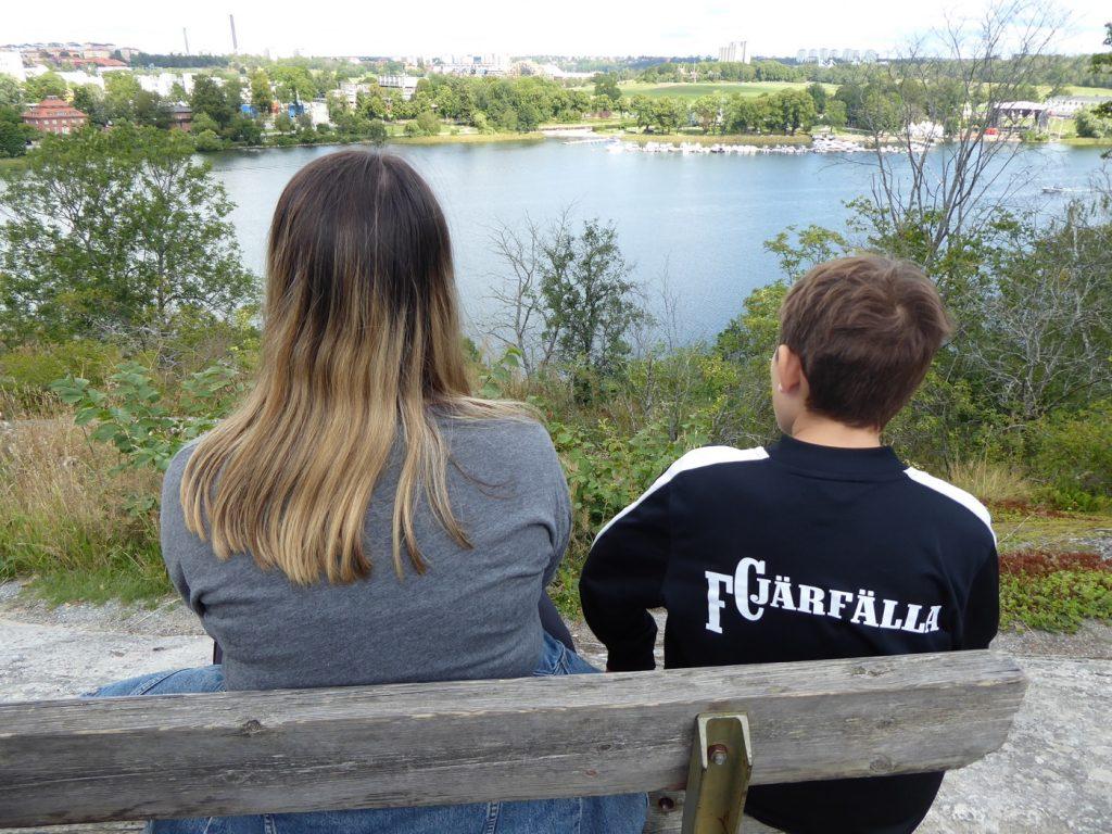 Fantastisk utsikt över Stockholm