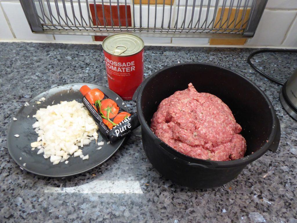 Förberett och klart. Sedan klarar maten sig själv!