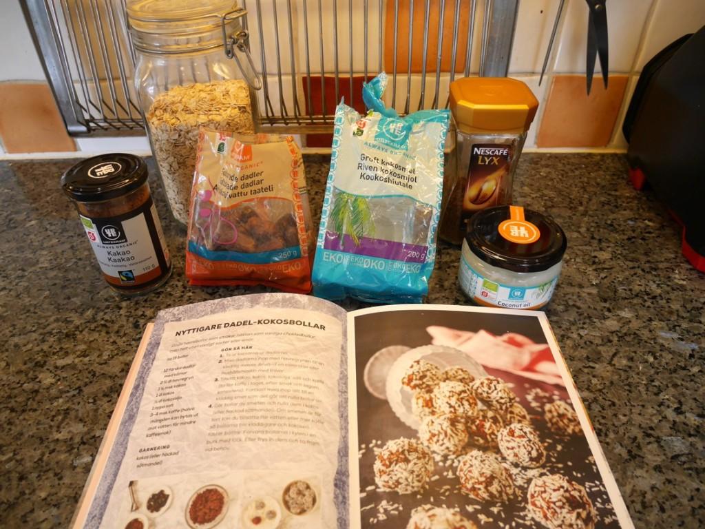 Kul att testa ett av bokens recept även om det går att hitta på vilken receptsida eller blogg som helst.