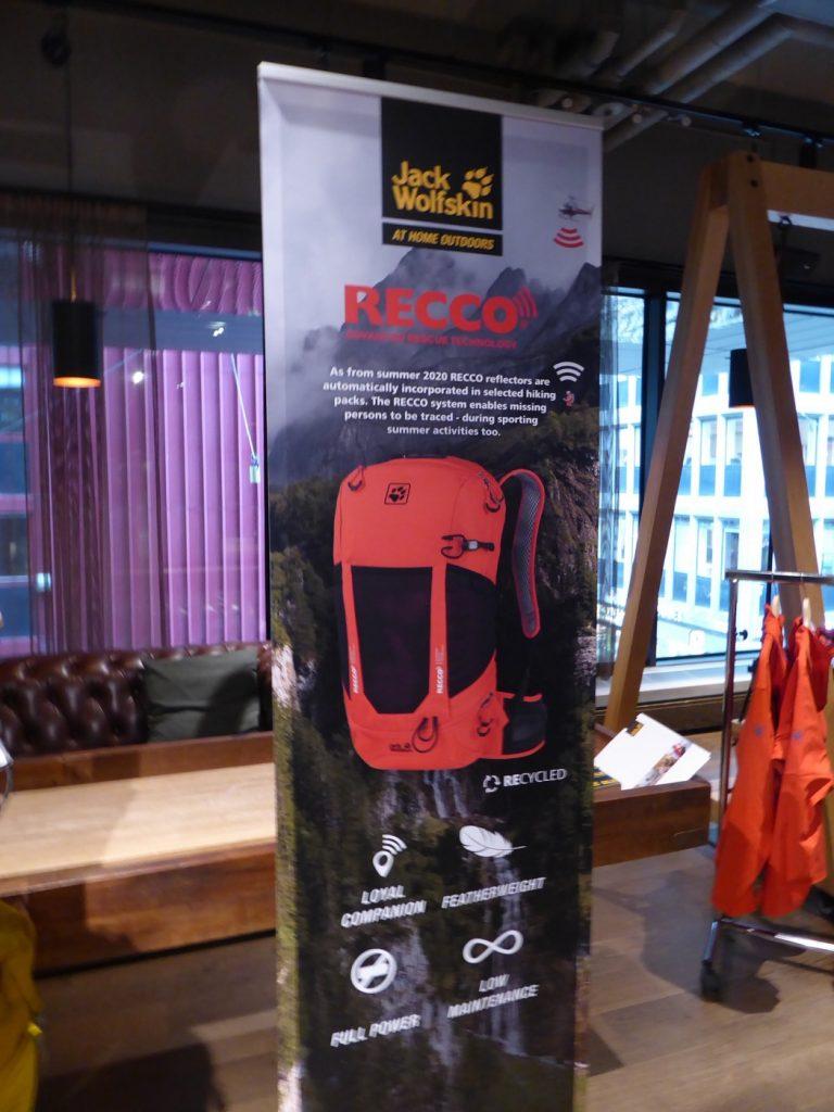 Recco-systemet finns från våren 2020 även i utvalda ryggsäckar från Jack Wolfskin