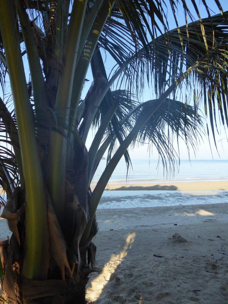 Utgång från rummet direkt ut på stranden.