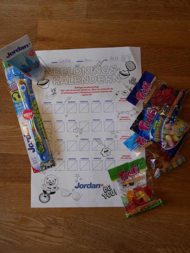 Belöningskalendern från Jordan