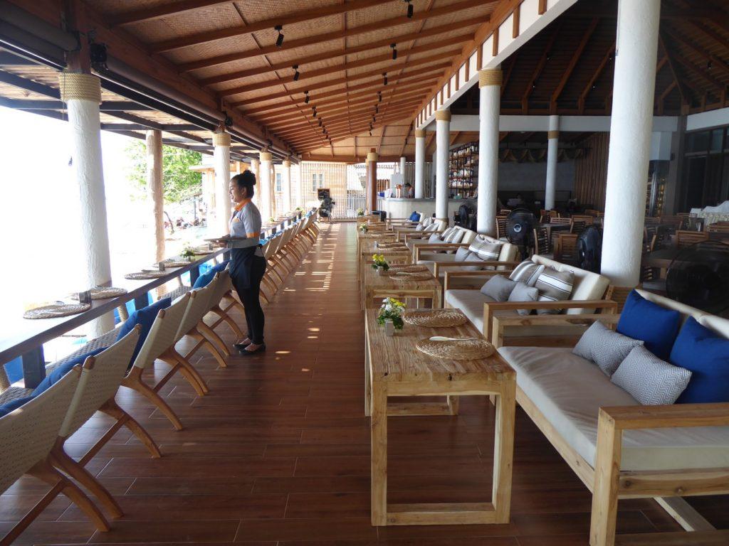 Restaurang precis vid stranden.
