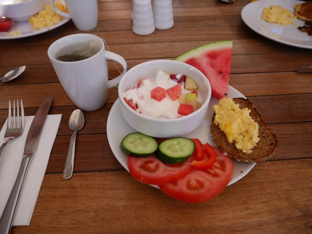 Härliga frukostar som alltid avslutas med ...