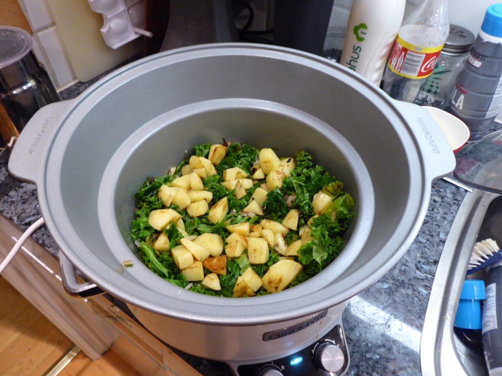 Potatis, grönkål, lök och vitlök.