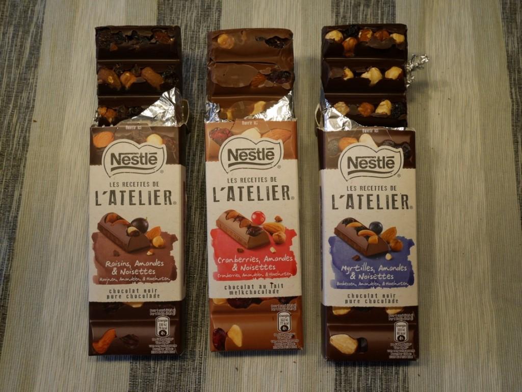 L'Atelier innehåller hela nötter och frukter och ingen bit är den andra lik.