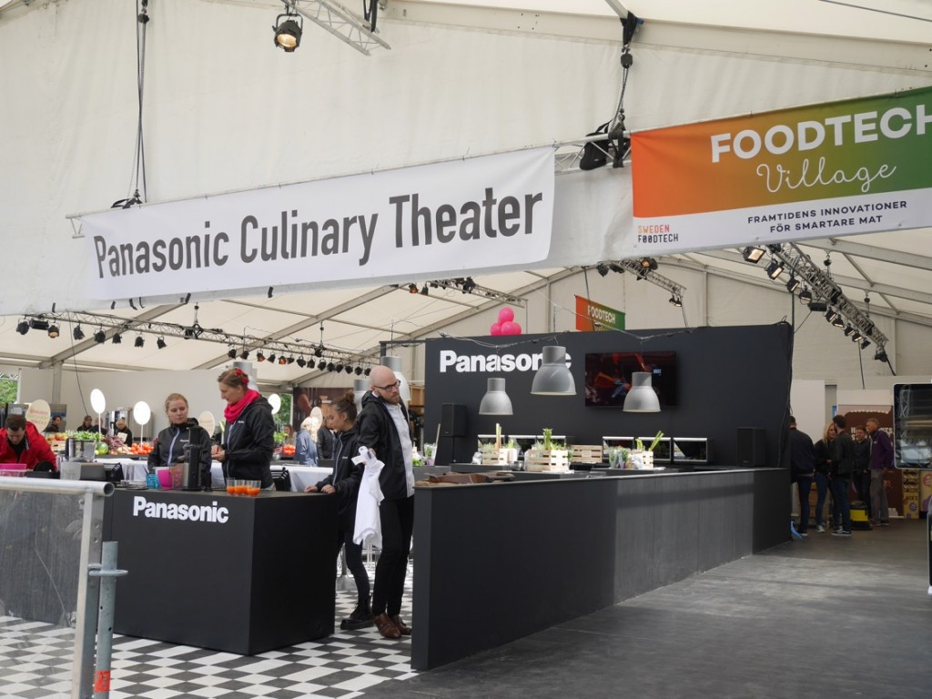 Nyheten FoodTech Village vägg i vägg med Panasonic Culinary Theater.