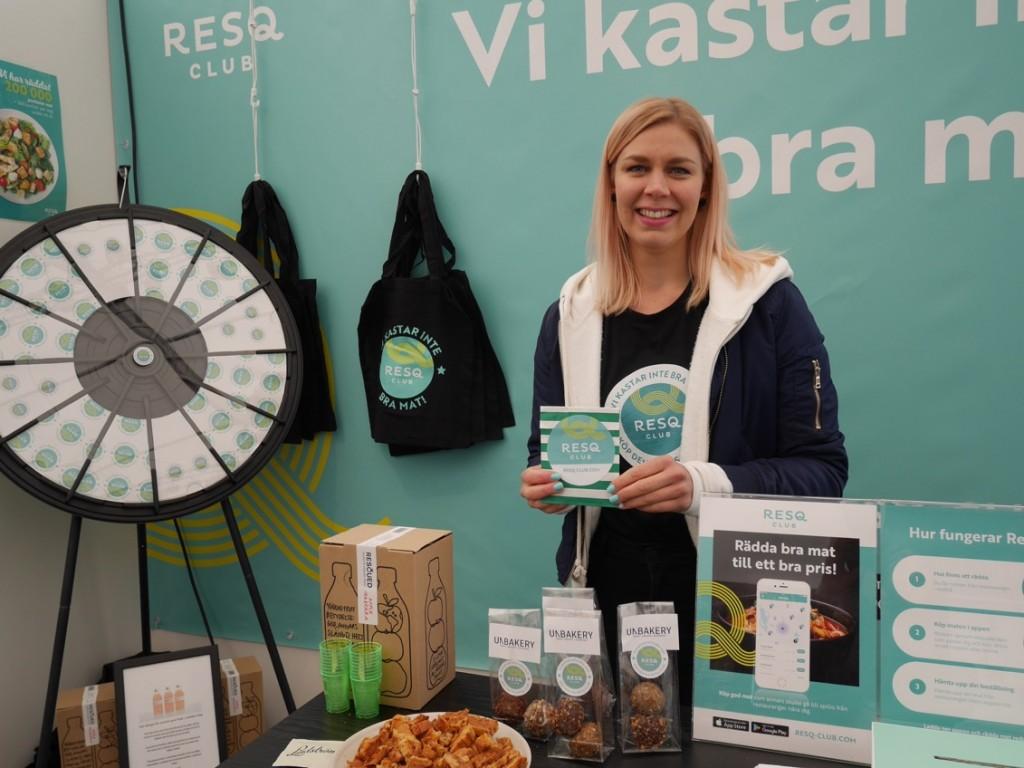 Representanter från min favoriträddarapp ResQ Club finns på plats i FoodTech Village.
