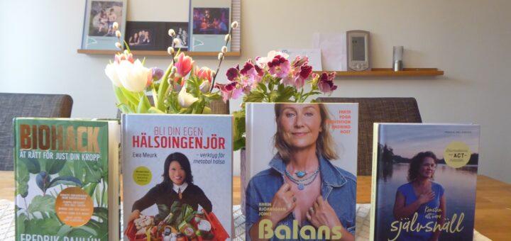 Ett urval av vårens hälsoböcker