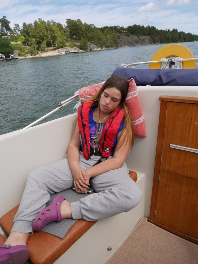 Båten har ett sövande ljud :-) !