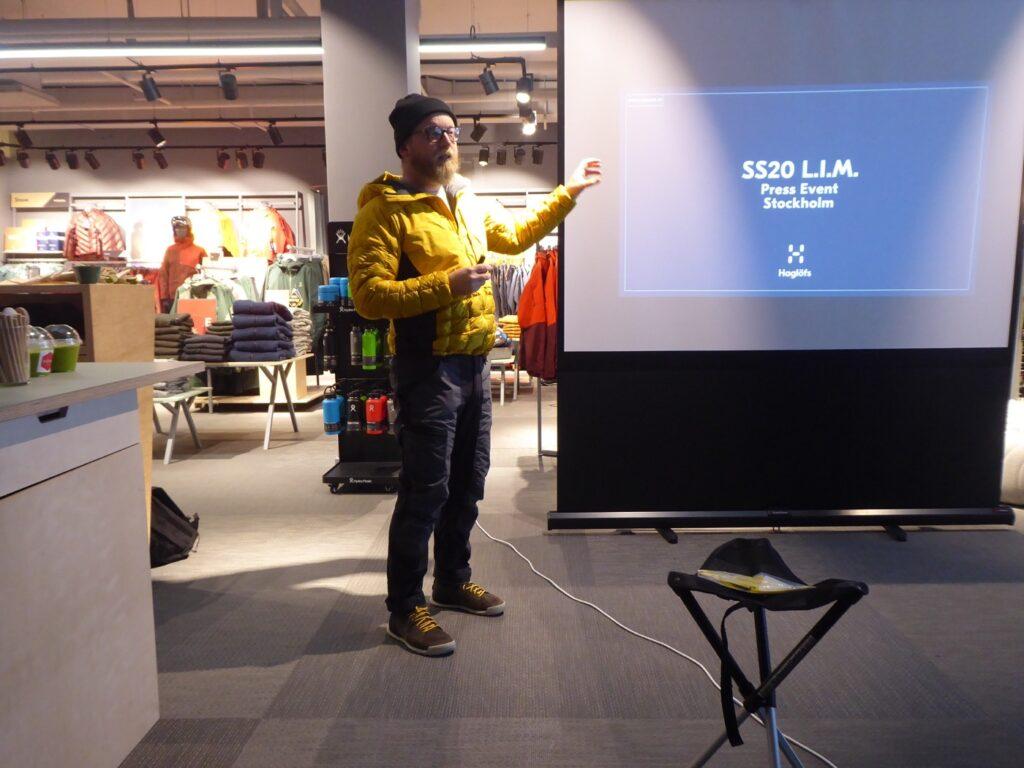 Haglöfs globala produktionschefen Paul Cosgrov höll i presentationen. Vilken inspirerande människa! En sån skön snubbe!