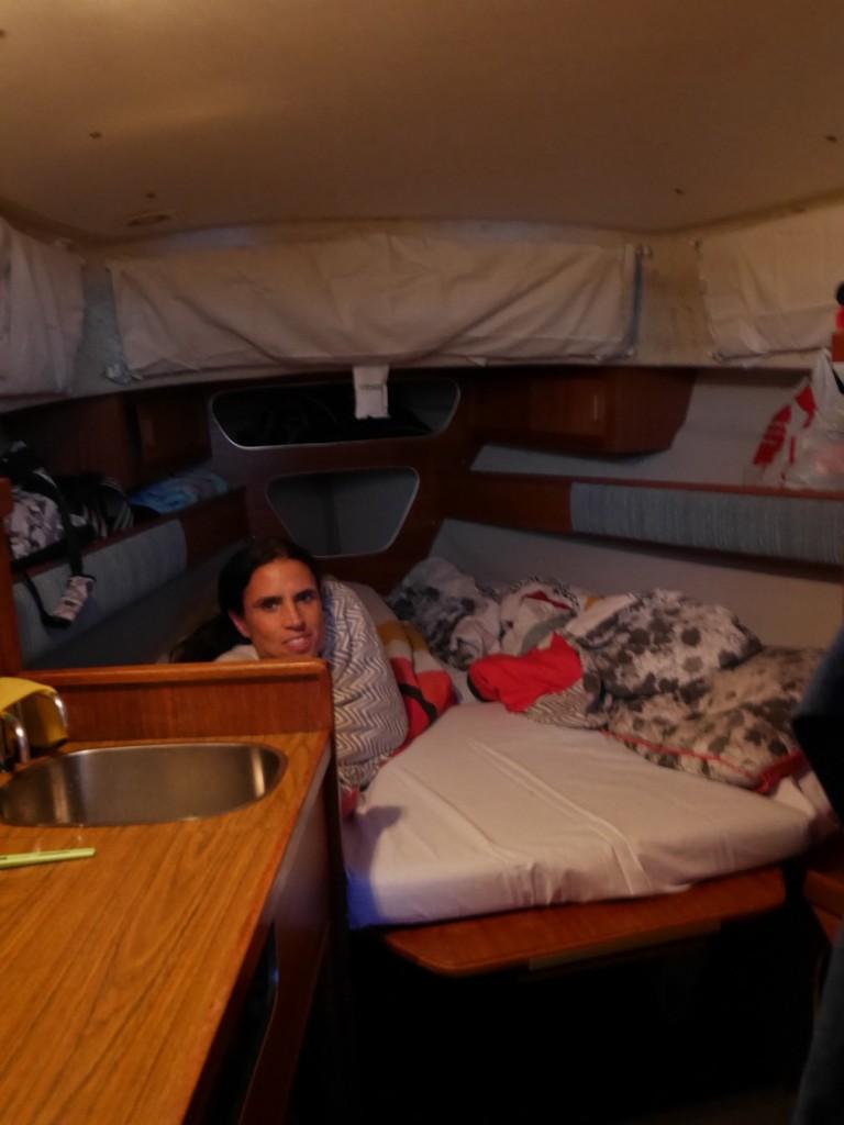 Här sover jag och Mattias.