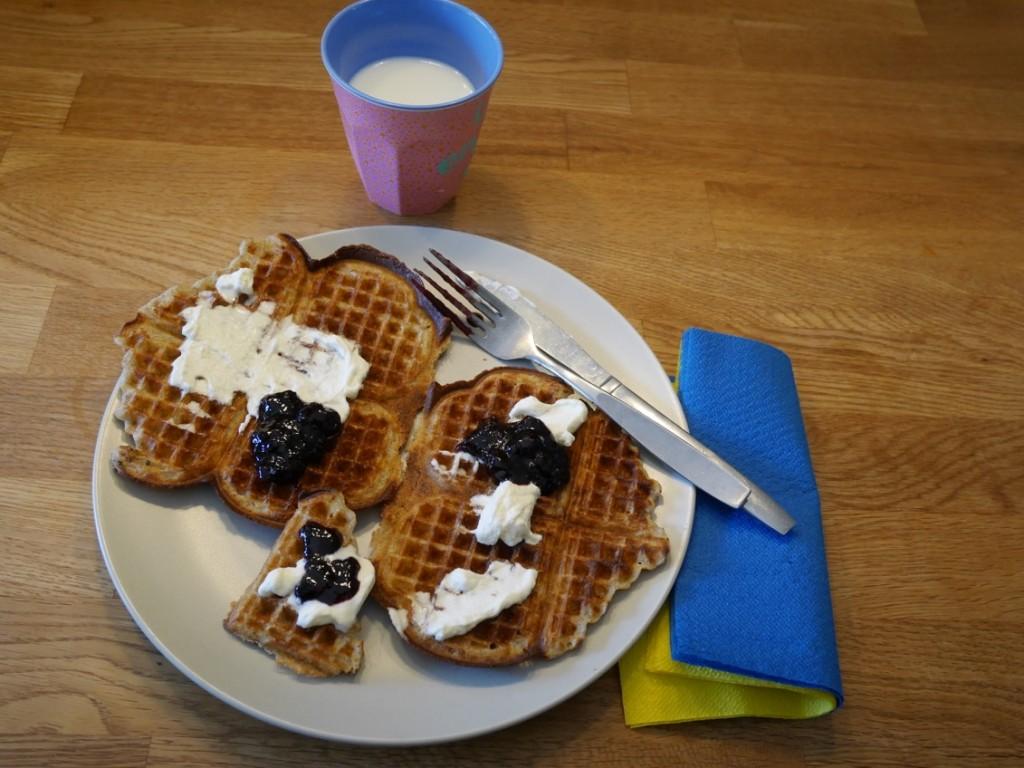 En våfflastisk frukost