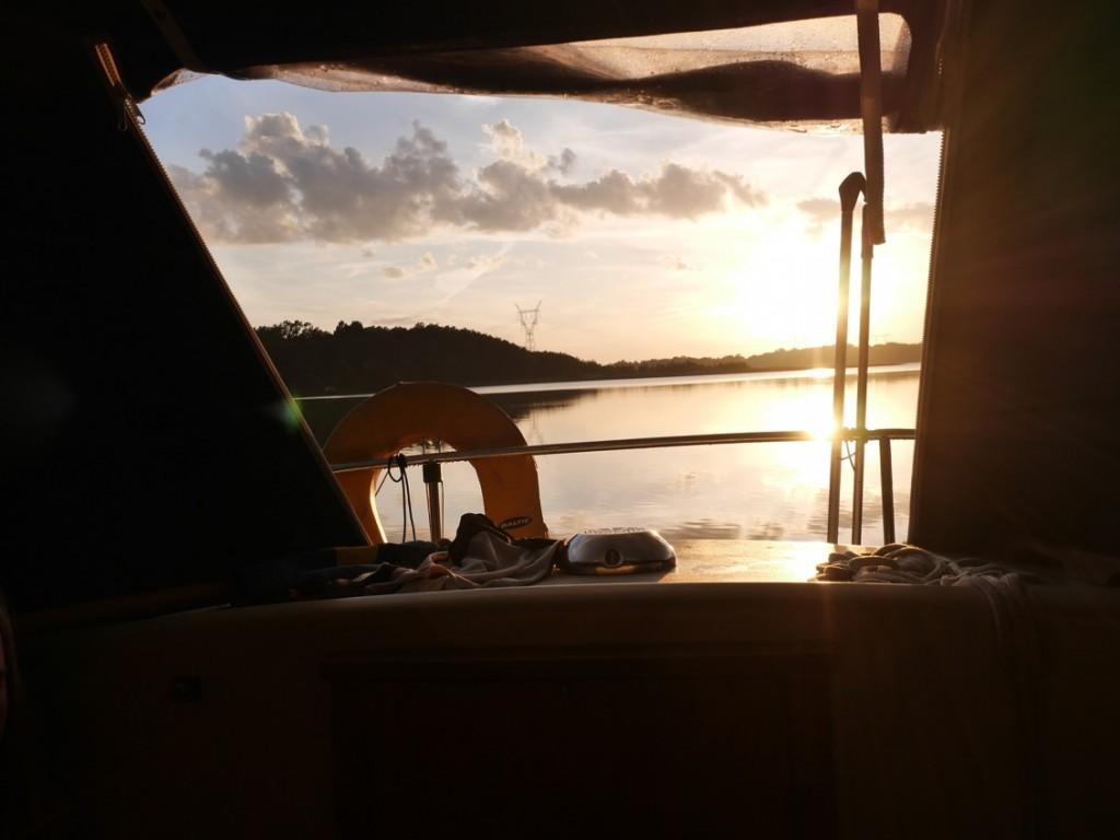 Varje kväll fick vi njuta av magiska solnedgångar.