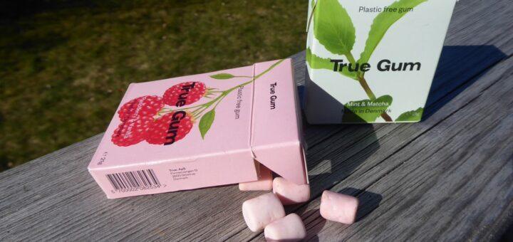 Sockerfritt tuggummi som inte innehåller plast.