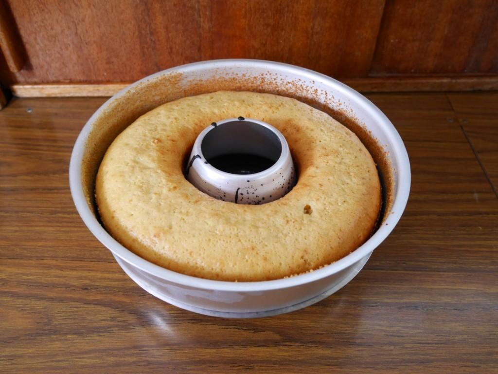 Färdigt! Ovansidan på kakan.