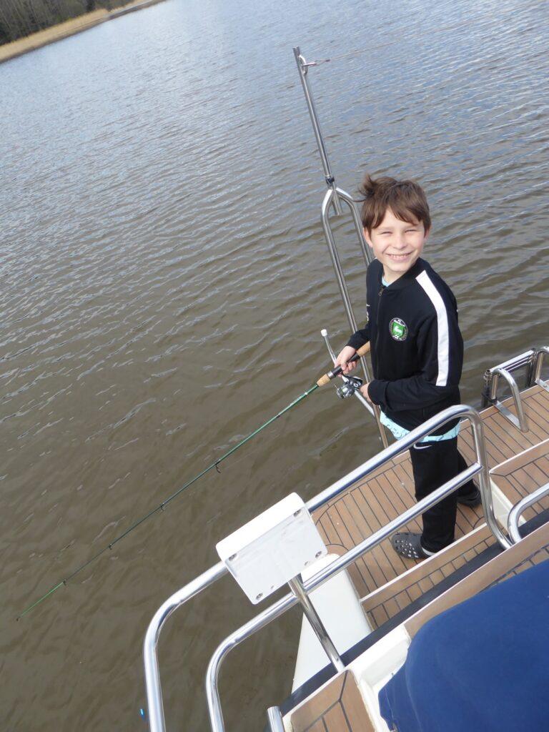 Äntligen fick Gus fiska igen!