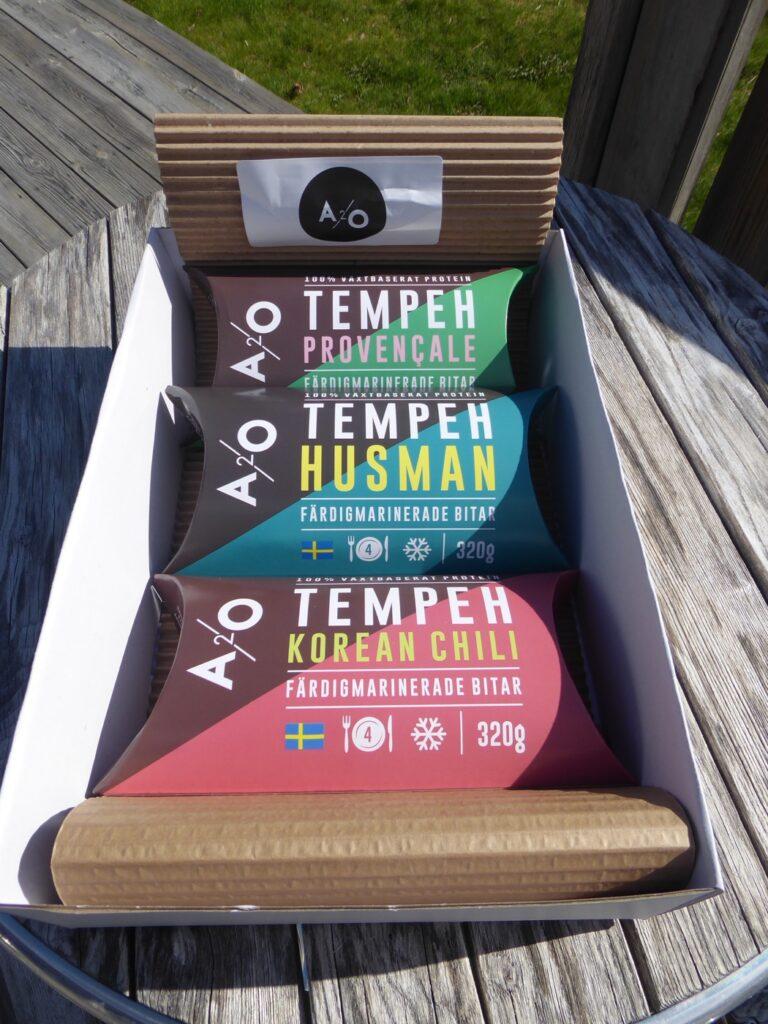 Svensk tempeh i tre olika smaker - Husman, Korean chili och Procencale