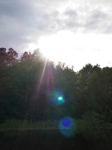 Solen på väg ned.