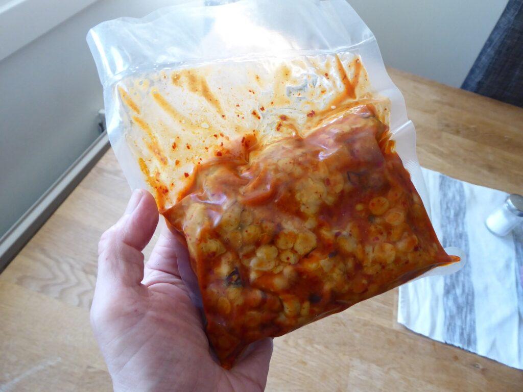 Färdigmarinerad tempeh med smak av Korean Chili.