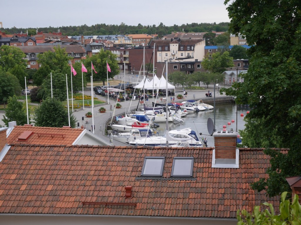 Fin utsikt mot hamnen.