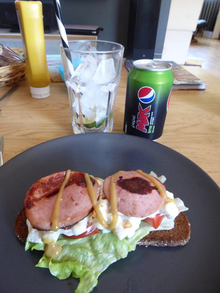 Enkel lunch i sommarvärmen