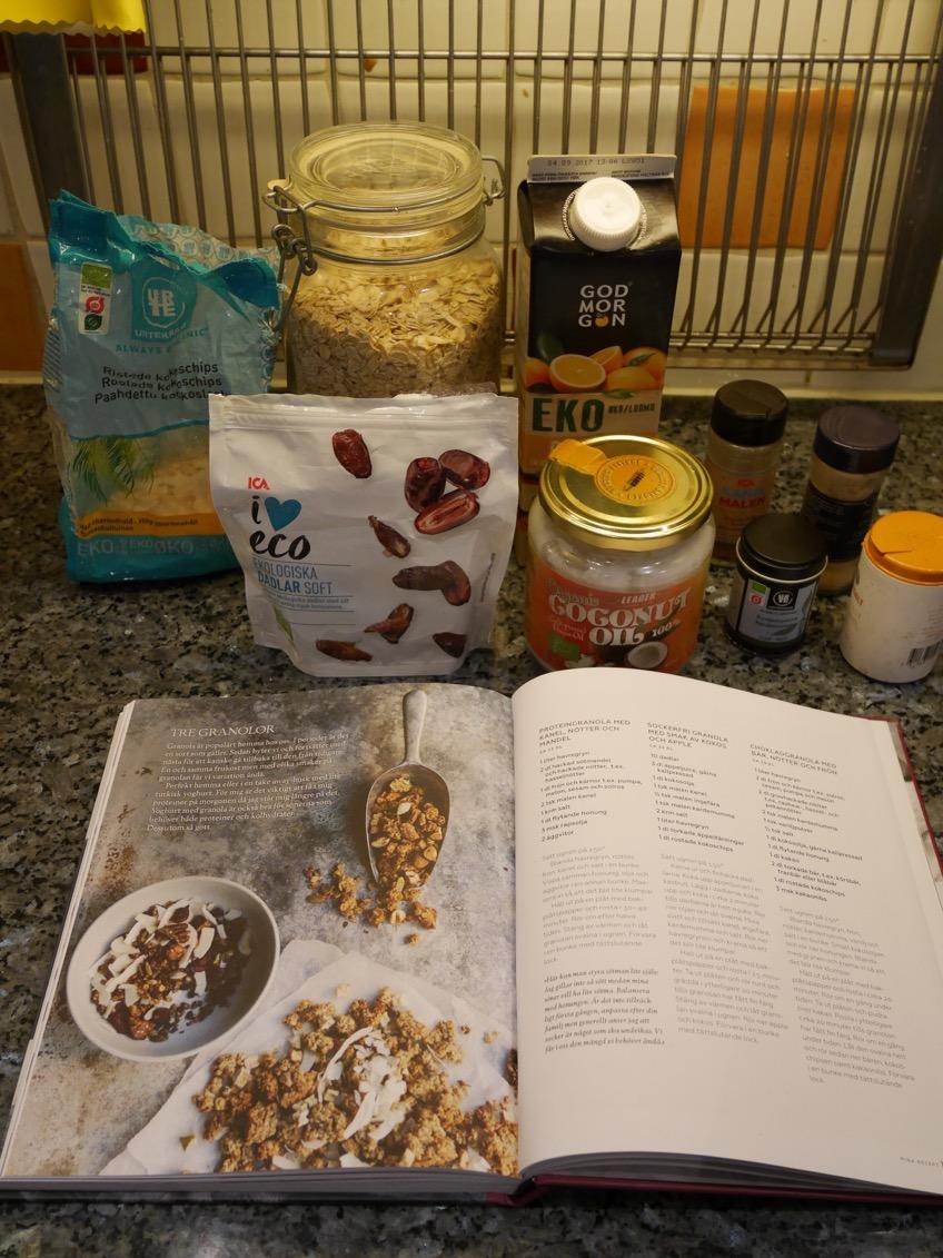 sockerfri granola recept
