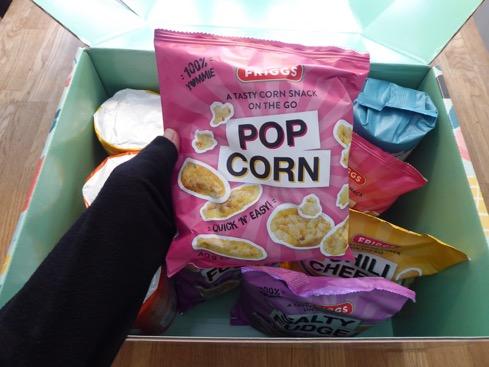 Popcorn är en favorit som sedan tidigare finns i storformat.