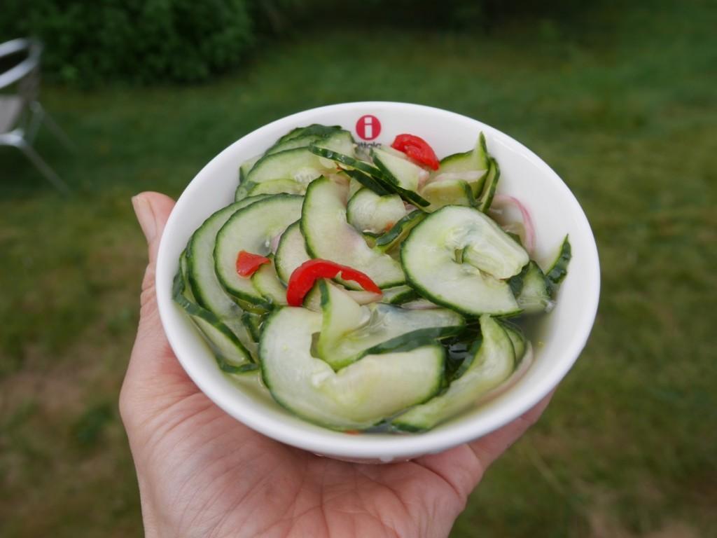 Thailändsk gurksallad.