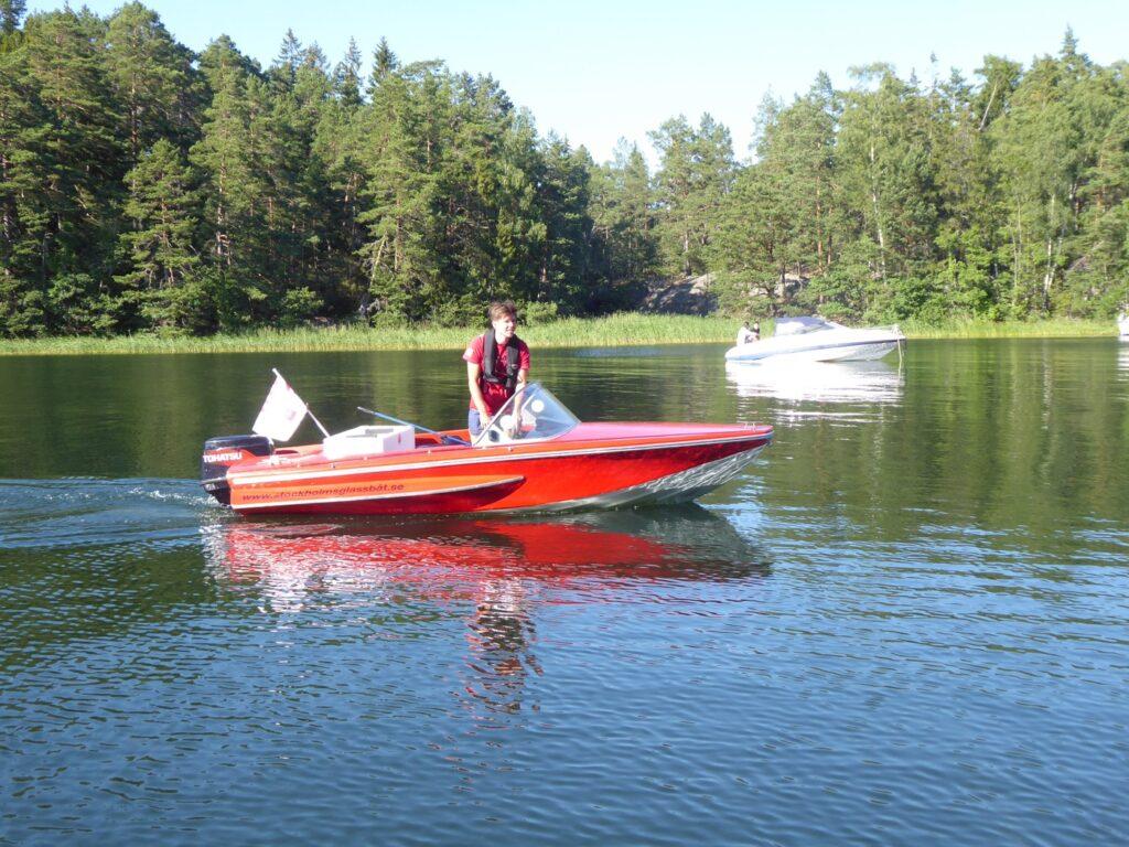 Glassbåten kom ofta på besök!