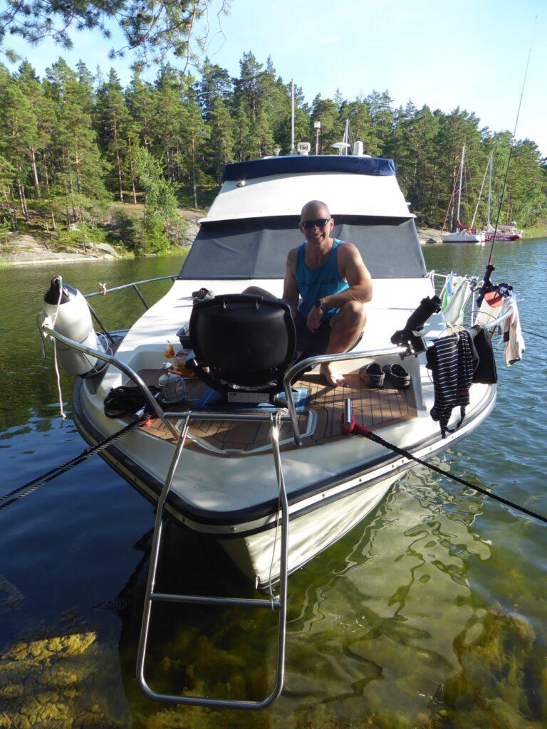 Perfekt att grilla på båten med gasolgrill!