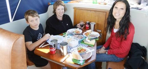 Lunch på böljan den blå