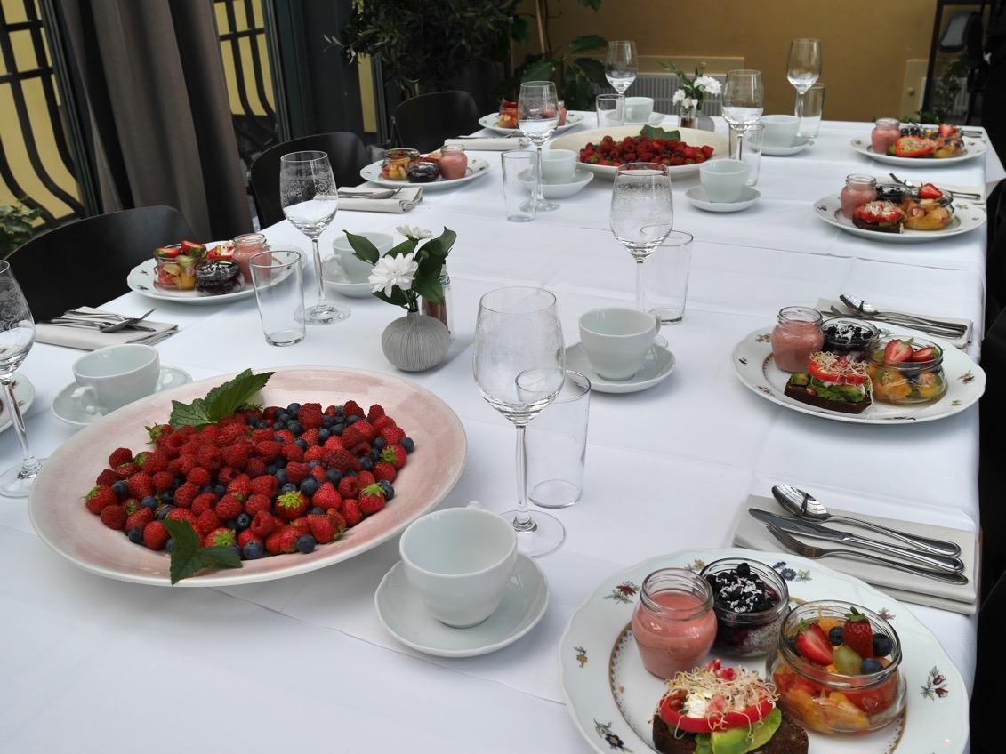 Inbjudande frukostbord!