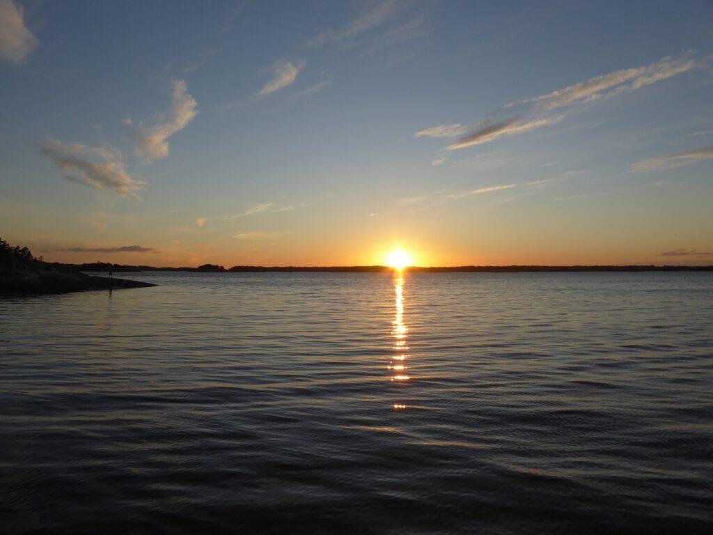 Solnedgångar får man aldrig nog av!