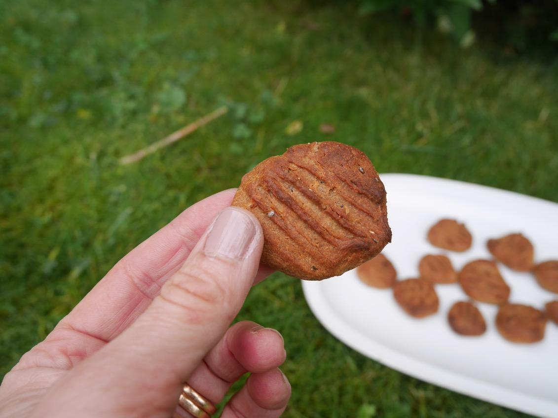 Nyttiga peanut cookies