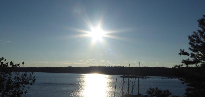 Solen är på väg ned och det är magiskt!