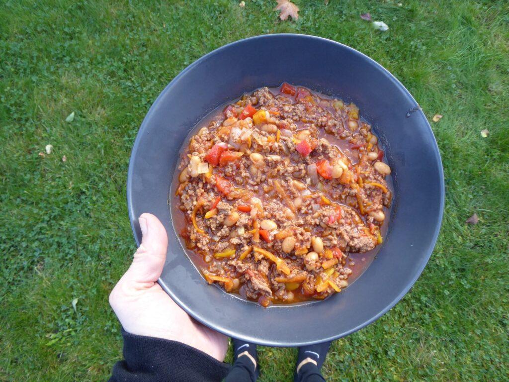 Dags att njuta av den godaste chili con carnen jag typ har lagat!